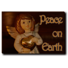 "Wall Art Peace On Earth Angel 12"" x 8"" Print"