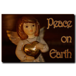 "Wall Art Peace On Earth Angel 36"" x 24"" Print"
