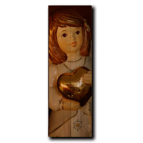 "Wall Art Peace On Earth Angel  8"" x 24"""