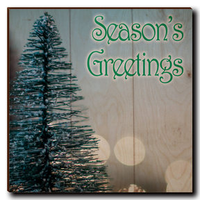 "Wall Art Season's Greetings Tree 12"" x 12"" Print"