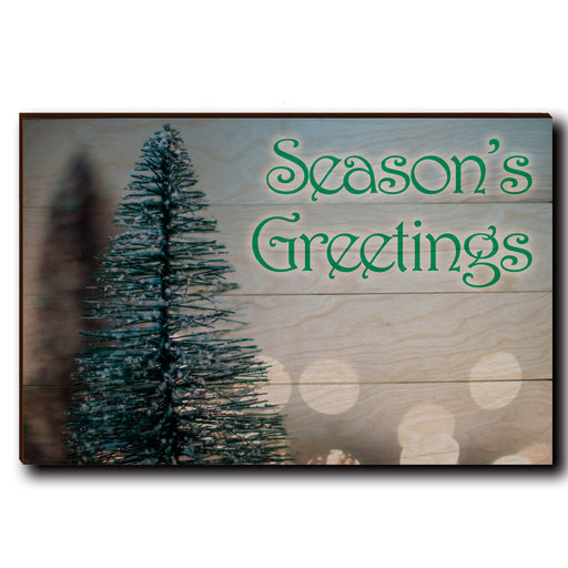 "View a Larger Image of Wall Art Season's Greetings Tree 24"" x 16"" Print"