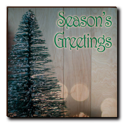 "View a Larger Image of Wall Art Season's Greetings Tree 24"" x 24"" Print"