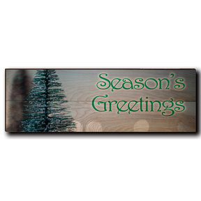 "Wall Art Season's Greetings Tree 24"" x 8"" Print"