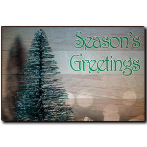 "Wall Art Season's Greetings Tree 36"" x 24"" Print"