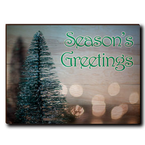 "Wall Art Season's Greetings Tree 40"" x 30"" Print"