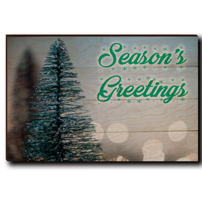 "Wall Art Season's Greetings Tree 24"" x 16"" Cursive"