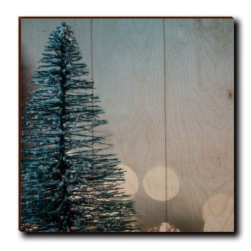 "View a Larger Image of Wall Art Season's Greetings Tree  12"" x 12"" Plain"