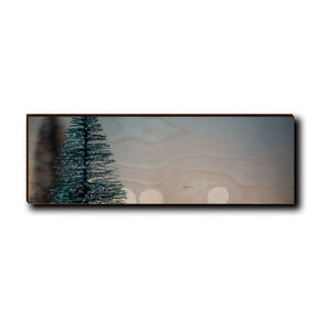 "Wall Art Season's Greetings Tree  12"" x 4"" Plain"