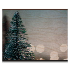 "Wall Art Season's Greetings Tree  12"" x 8"" Plain"