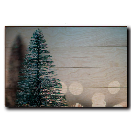 "View a Larger Image of Wall Art Season's Greetings Tree  24"" x 16"" Plain"
