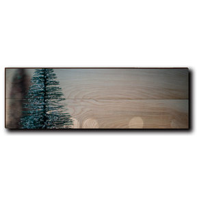"Wall Art Season's Greetings Tree  24"" x 8"" Plain"