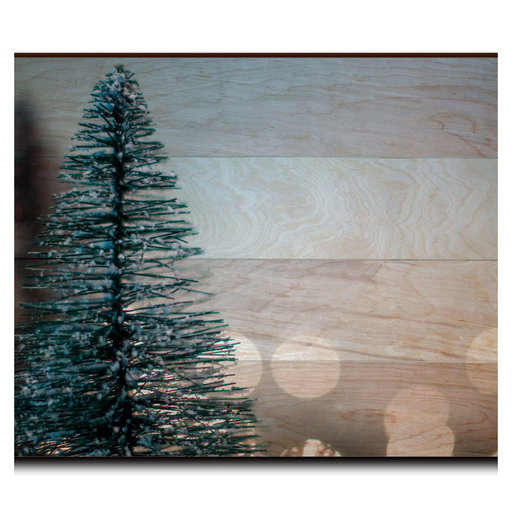 "View a Larger Image of Wall Art Season's Greetings Tree  36"" x 24"" Plain"