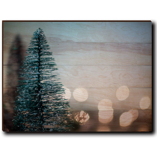 "View a Larger Image of Wall Art Season's Greetings Tree  40"" x 30"" Plain"