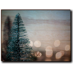 "Wall Art Season's Greetings Tree  40"" x 30"" Plain"