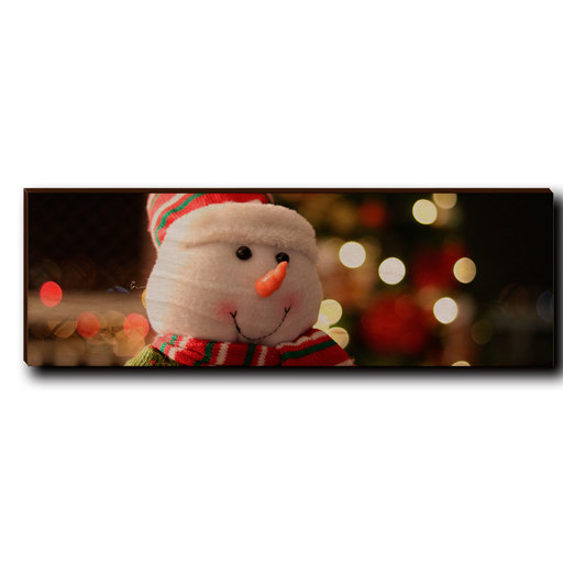"View a Larger Image of Wall Art Snowman Smile 12"" x 4"""