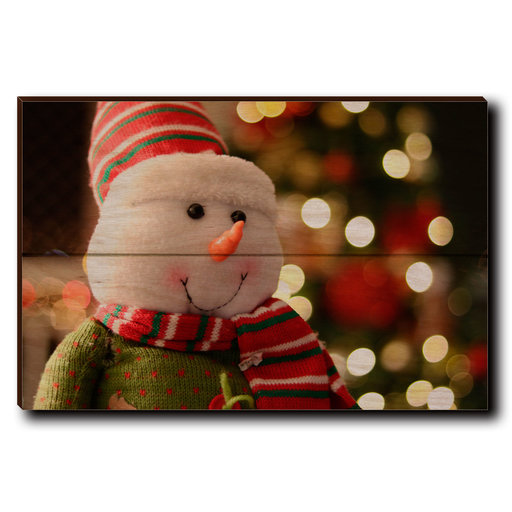 """View a Larger Image of Wall Art Snowman Smile 12"""" x 8"""""""