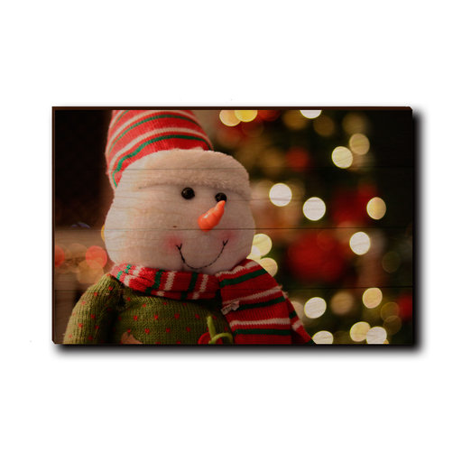 "View a Larger Image of Wall Art Snowman Smile 24"" x 16"""