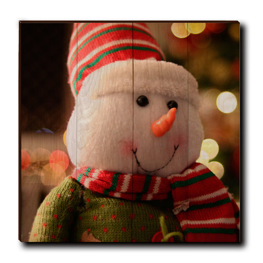 """View a Larger Image of Wall Art Snowman Smile 24"""" x 24"""""""