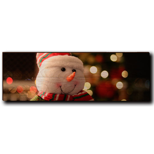 "View a Larger Image of Wall Art Snowman Smile 24"" x 8"""