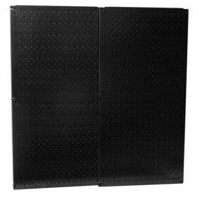 Wall Control Black Metal Pegboard Pack - Two Pegboard Tool Boards