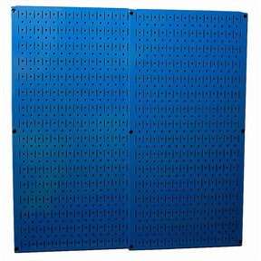 Wall Control Blue Metal Pegboard Pack - Two Pegboard Tool Boards