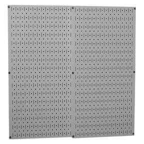 Wall Control Gray Metal Pegboard Pack - Two Pegboard Tool Boards