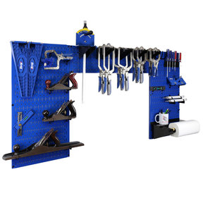 Lazy Guy DIY Maker Woodworking Tool Storage Organizer Set, Blue