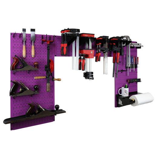 View a Larger Image of Lazy Guy DIY Maker Woodworking Tool Storage Organizer Set, Purple