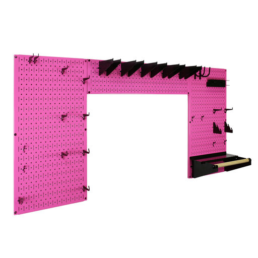 View a Larger Image of Lazy Guy DIY Maker Woodworking Tool Storage Organizer Set, Pink