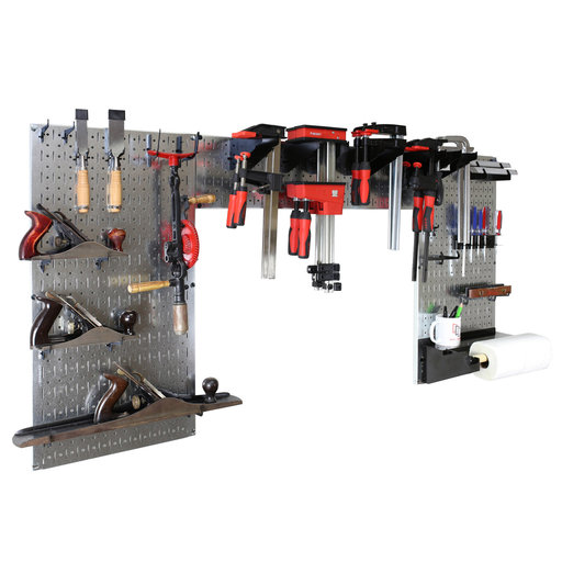 View a Larger Image of Wall Control Lazy Guy DIY Maker Woodworking Tool Storage Org