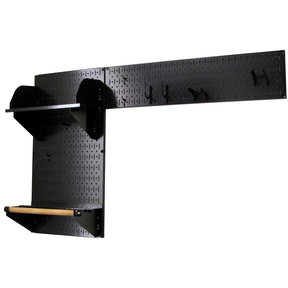 Pegboard Garden Tool Board Organizer with Black Pegboard and Black Accessories