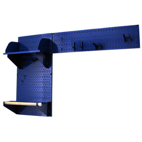 Wall Control Pegboard Garden Tool Board Organizer with Blue Pegboard and Blue Accessories