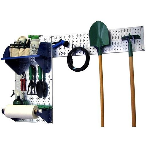 View a Larger Image of Wall Control Pegboard Garden Tool Board Organizer with Metallic Pegboard and Blue Accessories