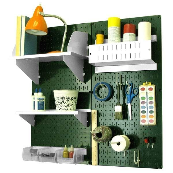... View A Different Image Of Wall Control Pegboard Hobby Craft Pegboard  Organizer Storage Kit With Green