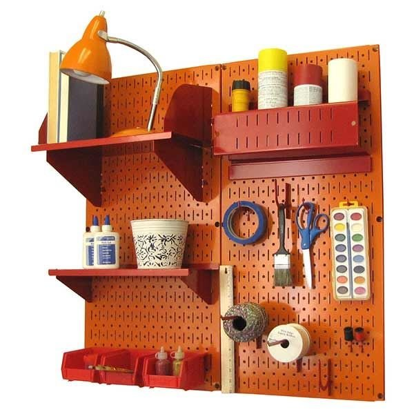 ... View A Different Image Of Wall Control Pegboard Hobby Craft Pegboard  Organizer Storage Kit With Orange