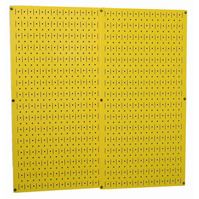 Wall Control Yellow Metal Pegboard Pack - Two Pegboard Tool Boards