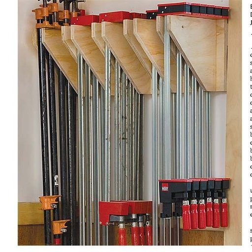 View a Larger Image of Wall Mounted Clamp Rack - Downloadable Plan