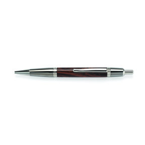 Wall Street II Click Ballpoint Pen Kit - Black Titanium and Platinum