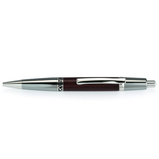 View a Larger Image of Wall Street II Elegant Click Ballpoint Pen Kit - Black Titanium and Platinum