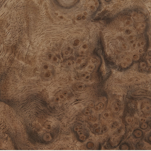 View a Larger Image of Walnut Burl, 8 Sq Ft Veneer Pack