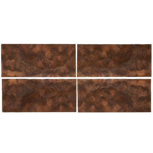 "View a Larger Image of Walnut Burl Veneer 8"" x 18"" 4-piece"