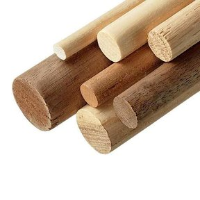 "Walnut 1-1/4"" x 36"" Round Wood Dowel"