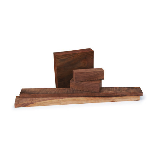 "View a Larger Image of Walnut Figured 3/4"" x 3/4"" x 5"" Pen  Blank 5-piece"