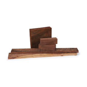 "Walnut Figured 3/4"" x 3/4"" x 5"" Pen  Blank 5-piece"