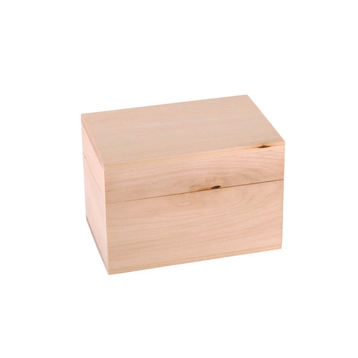 View a Larger Image of Walnut Hollow Basswood Box 3.98in x 5.83in x 3.94in