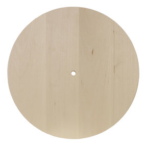Basswood Circle Clock Panel, 10 in. x 10 in.
