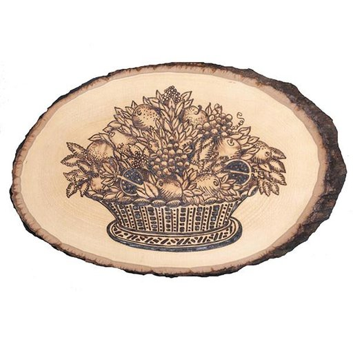 View a Larger Image of Walnut Hollow Basswood Country Rounds Medium