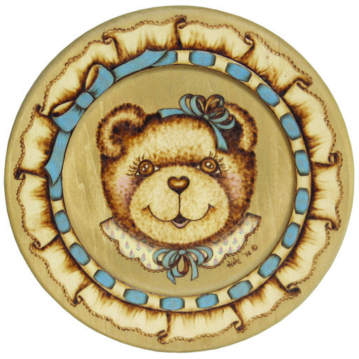 View a Larger Image of Walnut Hollow Basswood Round Plate 9-1/2""