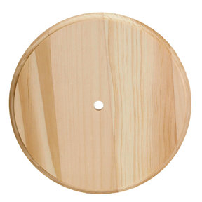 Pine Round Clock, Small, 6.75 in. Diameter