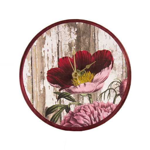 View a Larger Image of Pine Round Clock, Small, 6.75 in. Diameter